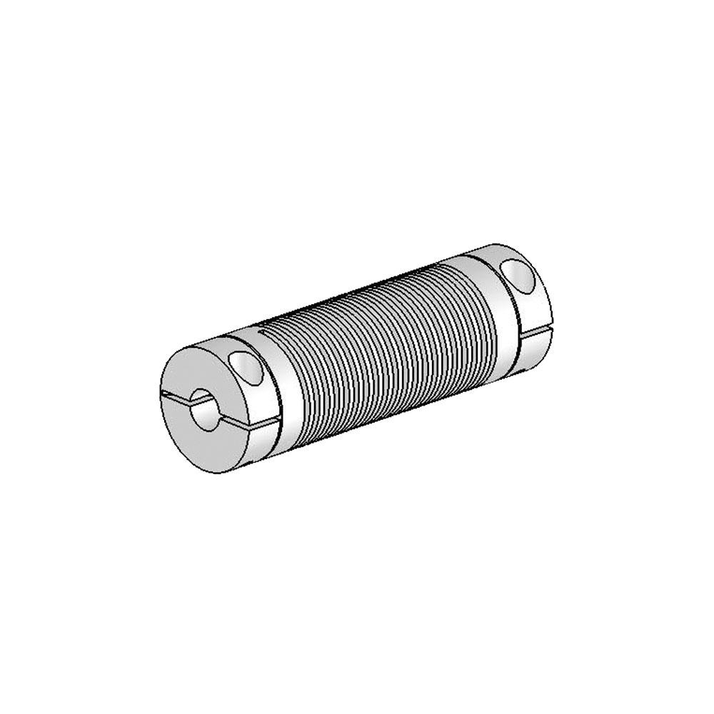 Helical Flexured Aluminum U Joint Ujac075 90 6 6